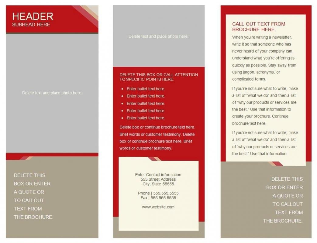 Trifold Template Google Docs 6 Panel Brochure Template Google Docs