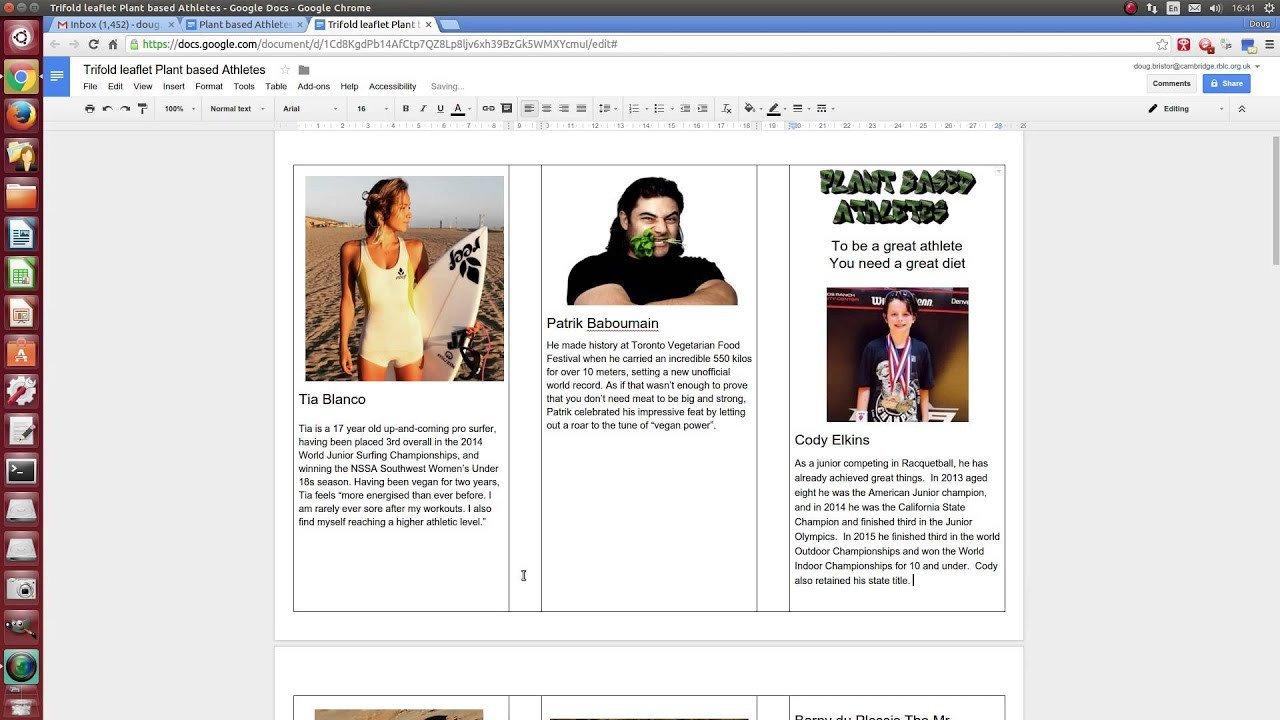 Trifold Template Google Docs Google Docs Making A Tri Fold Leaflet