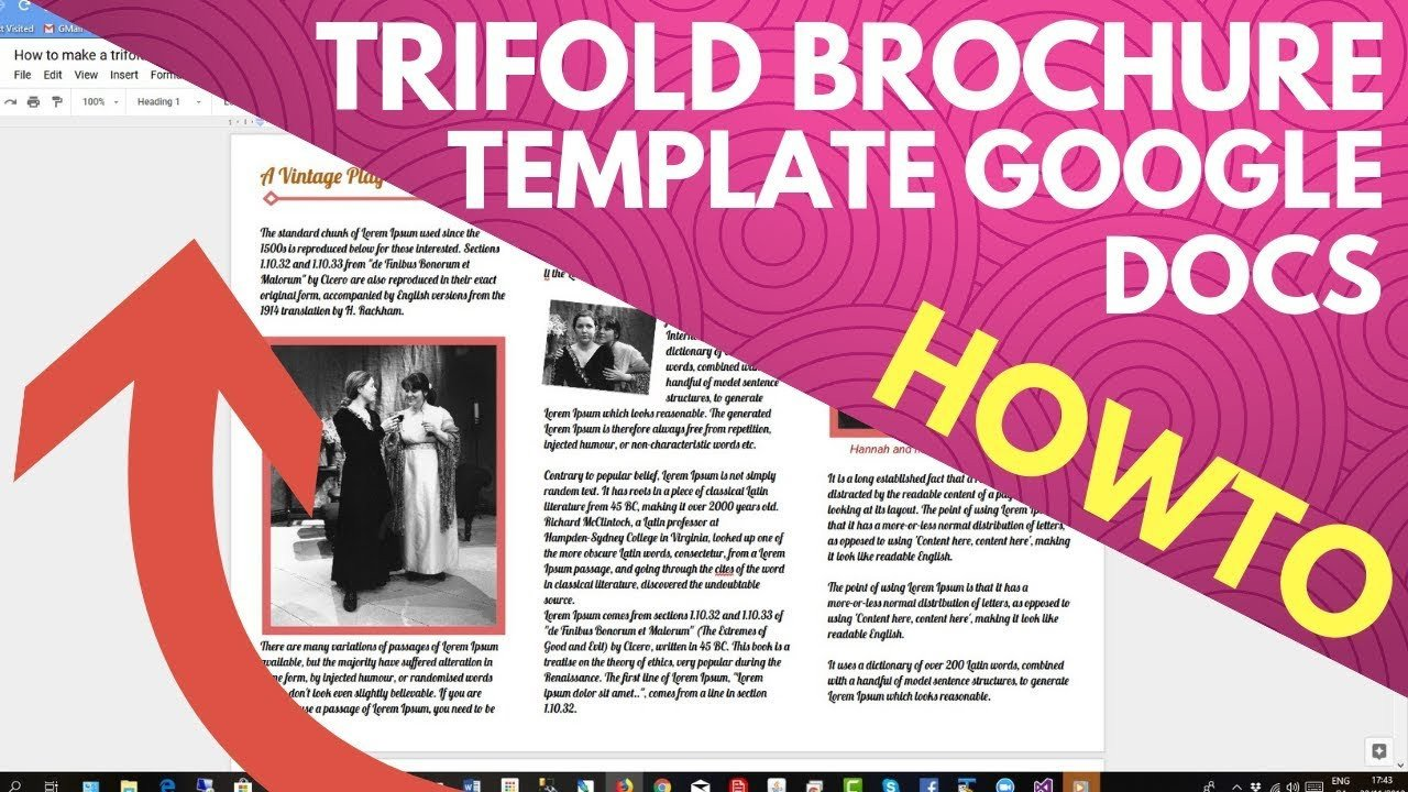 Trifold Template Google Docs Trifold Brochure Template Google Docs