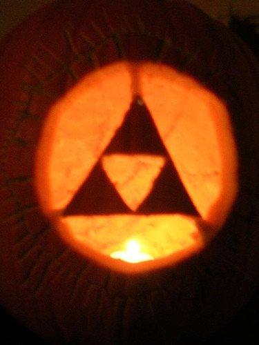 Triforce Pumpkin Stencil Nintendo Relaunch Nintendo Pumpkins