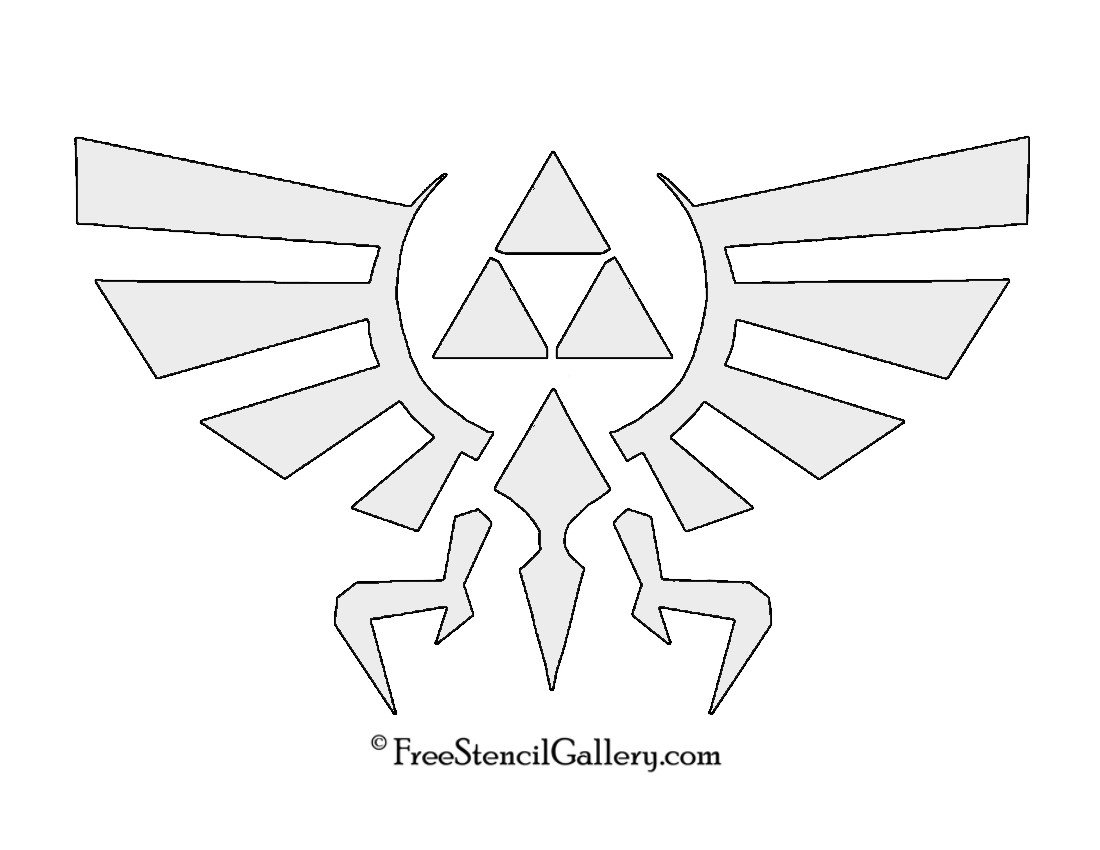 Triforce Pumpkin Stencil the Legend Of Zelda Triforce Symbol Stencil