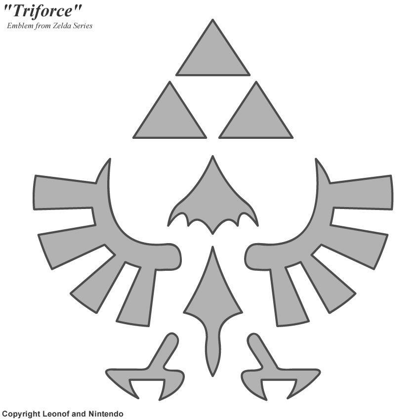 Triforce Pumpkin Stencil Triforce Stencil by Unisaurusrex On Deviantart