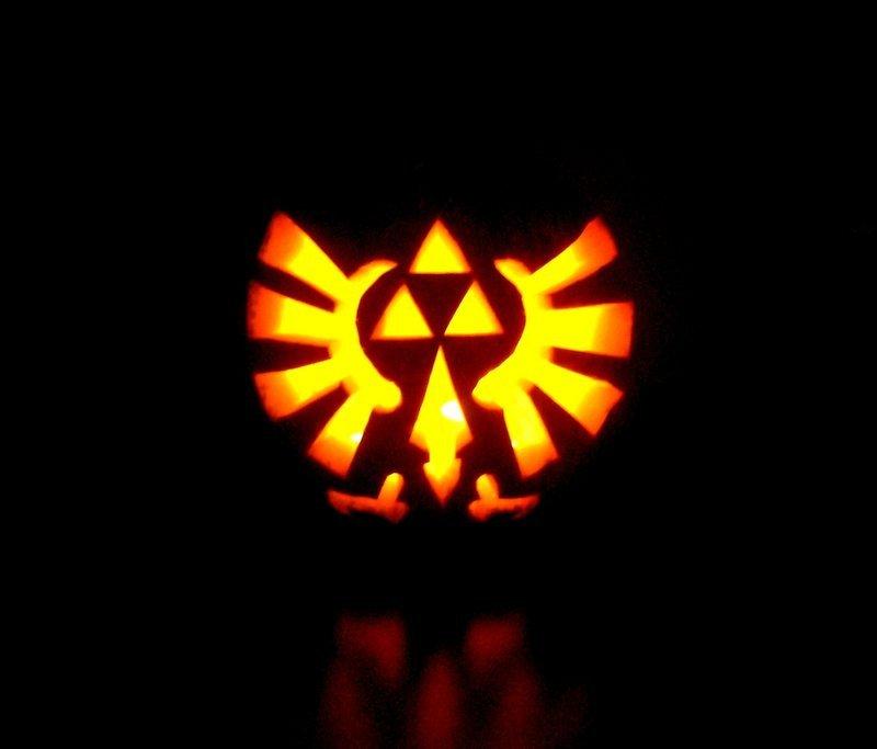 Triforce Pumpkin Stencil Zelda Triforce Pumpkin by Giluc On Deviantart