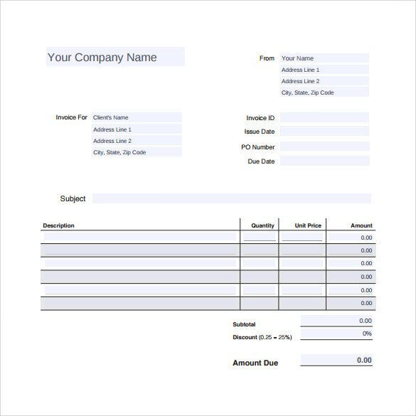 Truck Repair Invoice Template Sample Auto Repair Invoice Template 14 Download Free