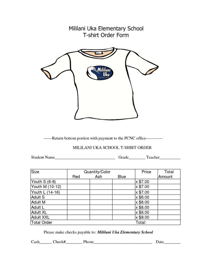 Tshirt order form Template Best 25 order form Ideas On Pinterest