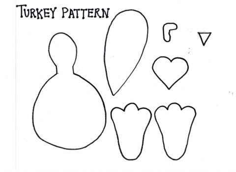Turkey Foot Template 20 Fun and Crafty Paper Bag Turkey Projects