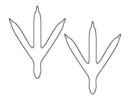 Turkey Foot Template Bird Feet Pattern Use the Printable Outline for Crafts