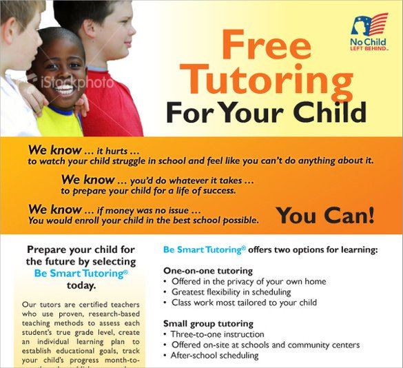 Tutoring Flyer Templates Free 18 Best Tutoring Flyer Templates Word Psd Ai Eps Vector