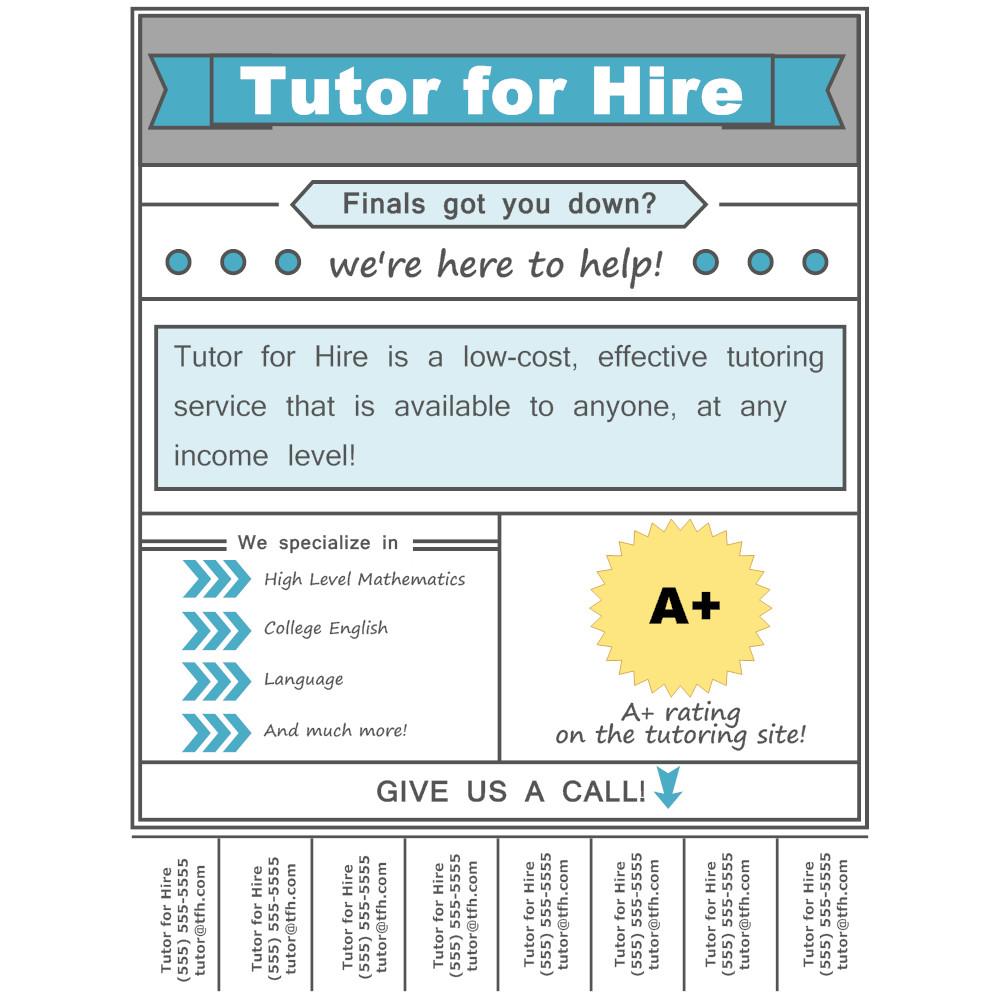 Tutoring Flyer Templates Free Tutoring Flyer