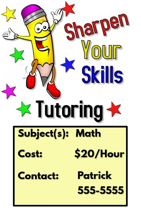 Tutoring Flyer Templates Free Tutoring Flyer Template