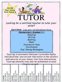 Tutoring Flyers Template Free 15 Cool Tutoring Flyers 9 Tutoring Pinterest