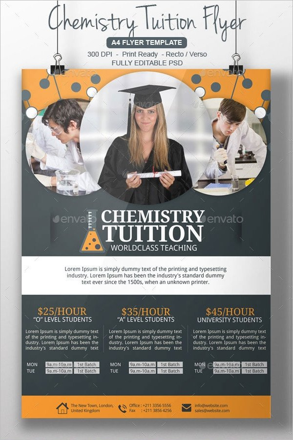 Tutoring Flyers Template Free 16 Tutoring Flyer Designs & Examples Ai Psd Pdf