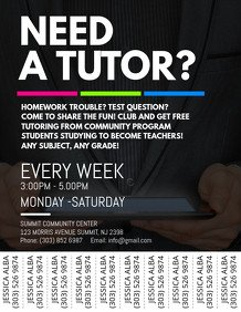 Tutoring Flyers Template Free 160 Customizable Design Templates for Tutor