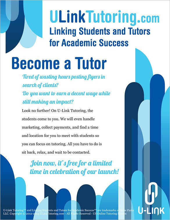 Tutoring Flyers Template Free 31 Tutoring Flyer Templates Psd Ai Vector Eps format