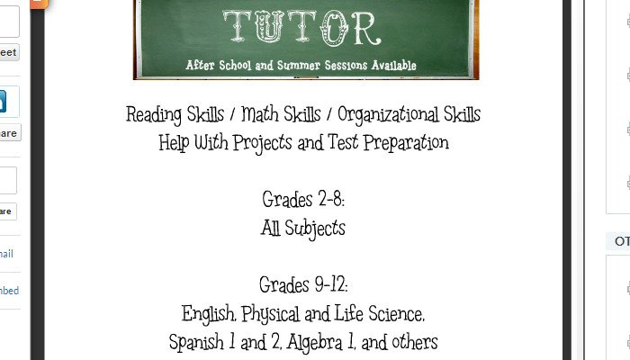 Tutoring Flyers Template Free 4 Tutoring Flyer Templates