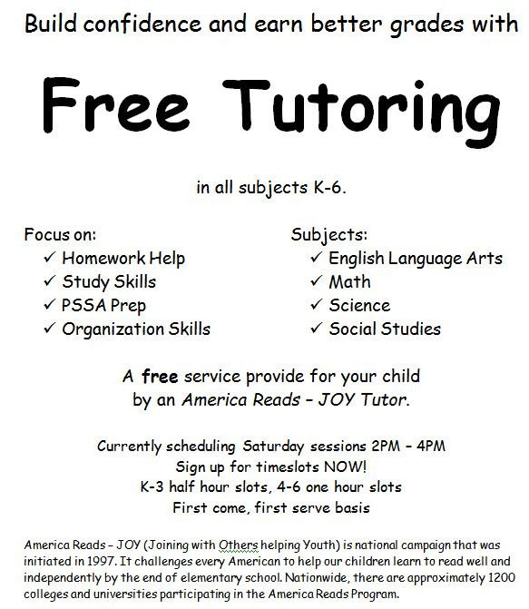 Tutoring Flyers Template Free Adventures In A Semester Of Being An America Reads Tutor