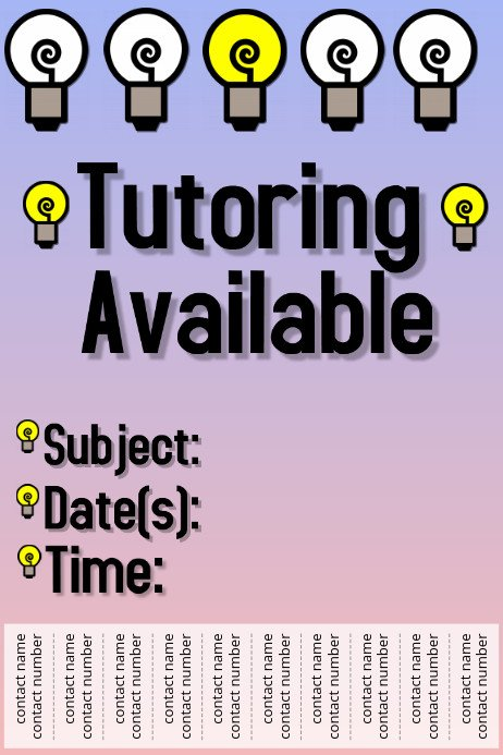 Tutoring Flyers Template Free Copy Of Tutoring