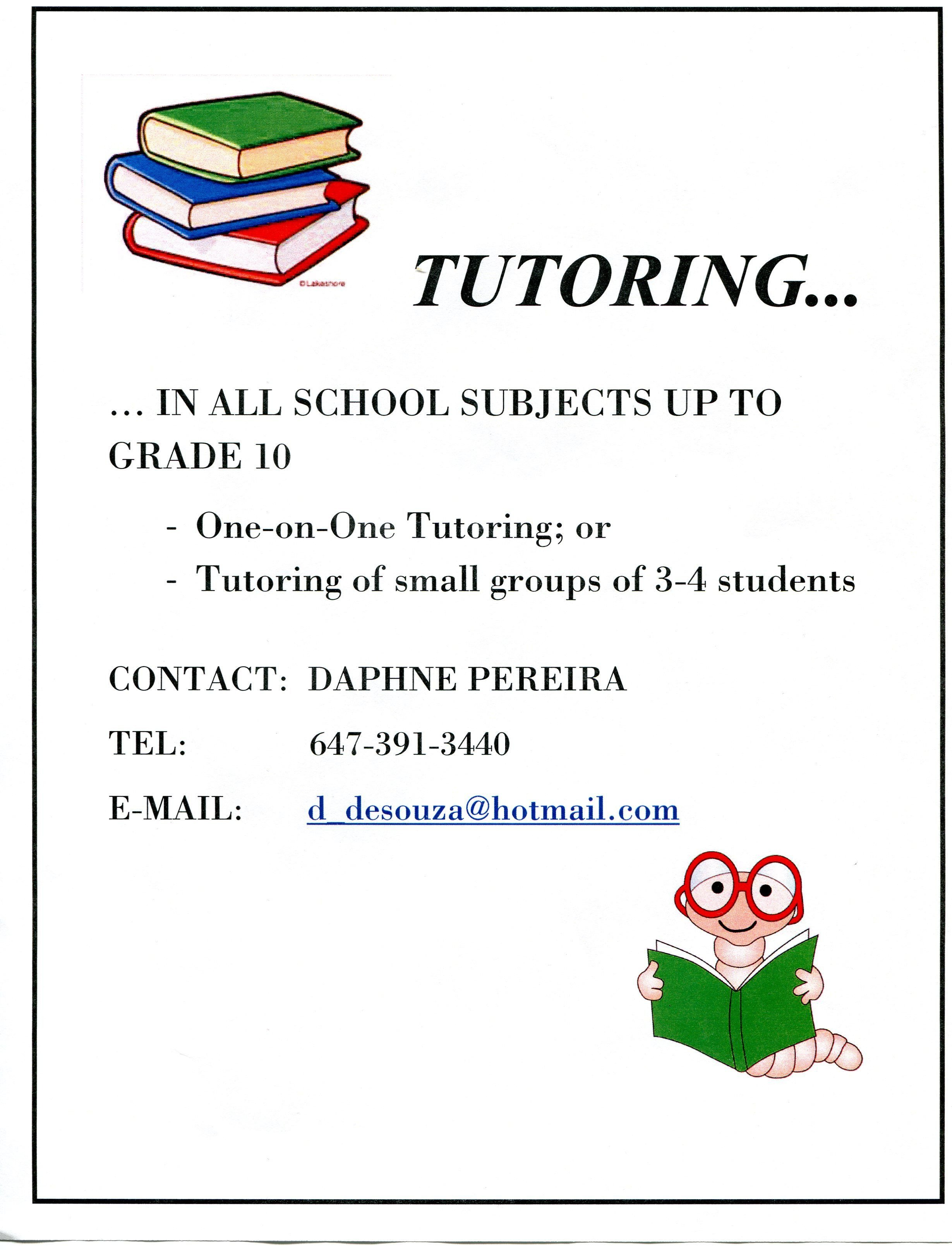 Tutoring Flyers Template Free Tutor Flying On Pinterest