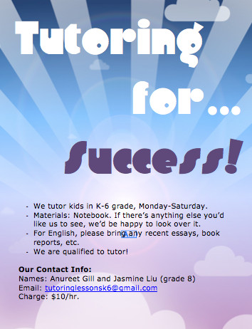 Tutoring Flyers Template Free Tutor Templates Flyer