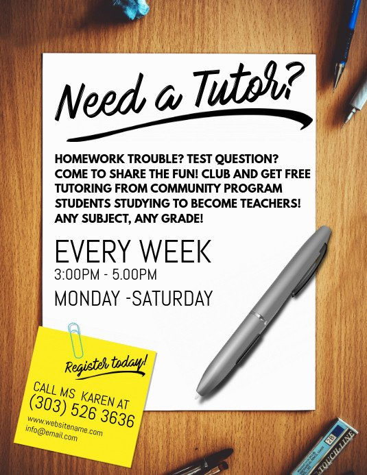 Tutoring Flyers Template Free Tutoring Service Flyer Template