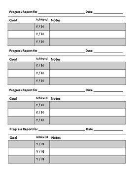 Tutoring Progress Report Template Private Tutoring forms by Happie Medium