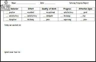 Tutoring Progress Report Template Teacher S Take Out Tutoring Progress Report