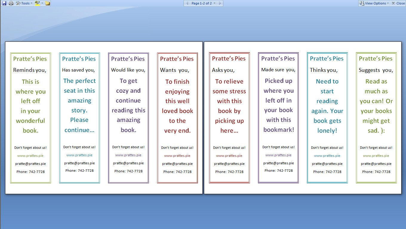 Two Sided Bookmark Template How to Print A Two Sided Document Using Microsoft Word or