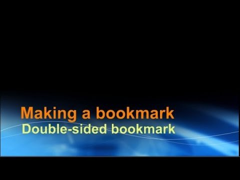 Two Sided Bookmark Template Making A Double Sided Bookmark Using Word