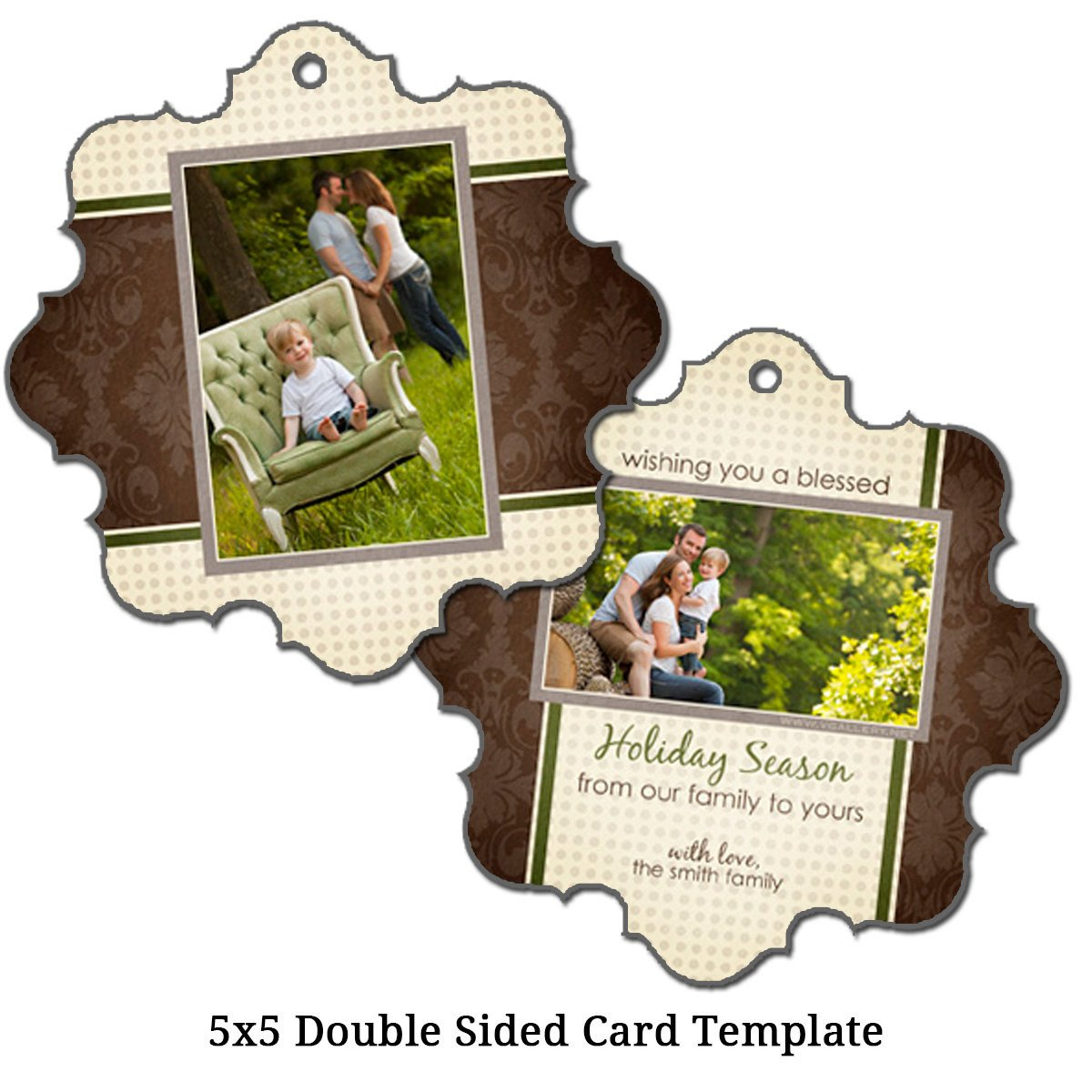 Two Sided Postcard Template 5x5 Double Sided Christmas Card Template by Vgallerydesigns