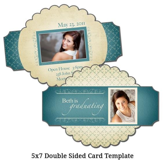 Two Sided Postcard Template 5x7 Double Sided Card Template Picture Perfect Digital