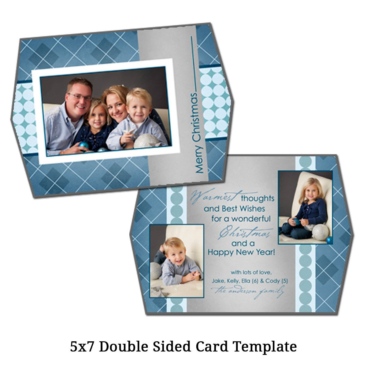 Two Sided Postcard Template 5x7 Double Sided Christmas Card Template by Vgallerydesigns