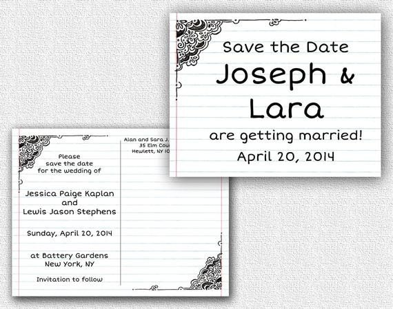 Two Sided Postcard Template Double Sided Save the Date Postcard Template by