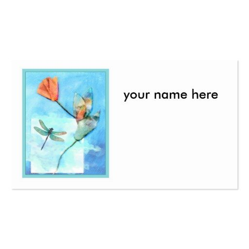 Two Sided Postcard Template Flower Card Template Double Sided Standard Business Cards