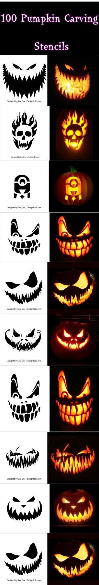 Ucf Pumpkin Stencil 100 Pumpkin Carving Stencils Pumpkin Carving Stencils