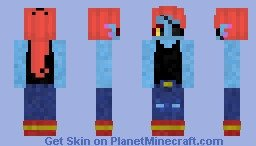 Undyne Minecraft Skin Sadness Inside Out Minecraft Skin