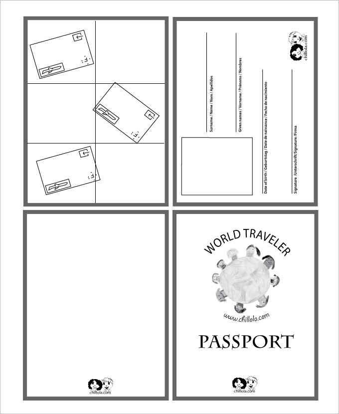 Us Passport Photo Template Blank Passport Templates Word Excel Pdf