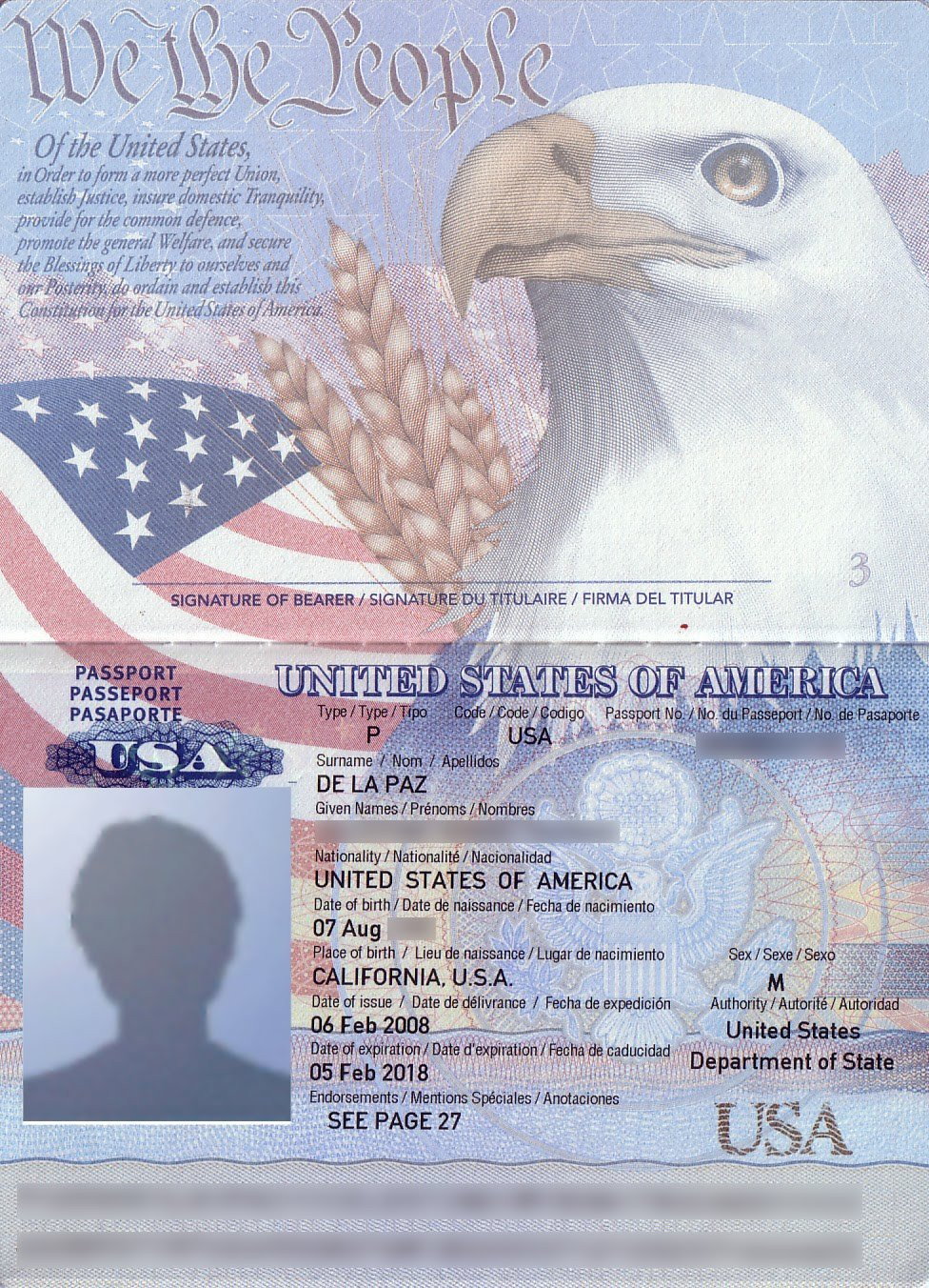 Us Passport Photo Template Passport Stampaholic 2010 03