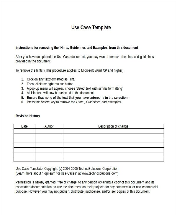 Use Case Templates Word 10 Business Case Templates Free Sample Example format