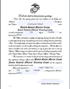 Usmc Promotion Warrant Template Promotion Warrants for Cadet Officers and Cadet Enlisted