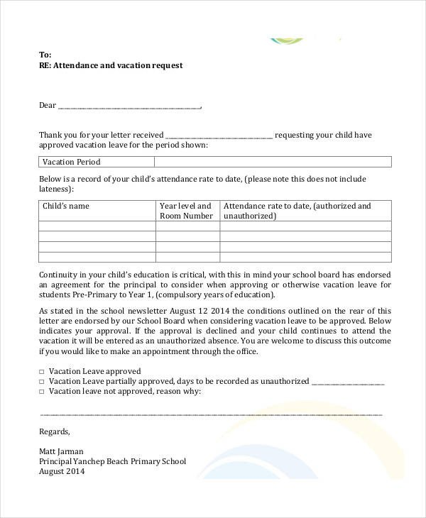 Vacation Leave Letter Sample 54 formal Letter Examples and Samples Pdf Doc