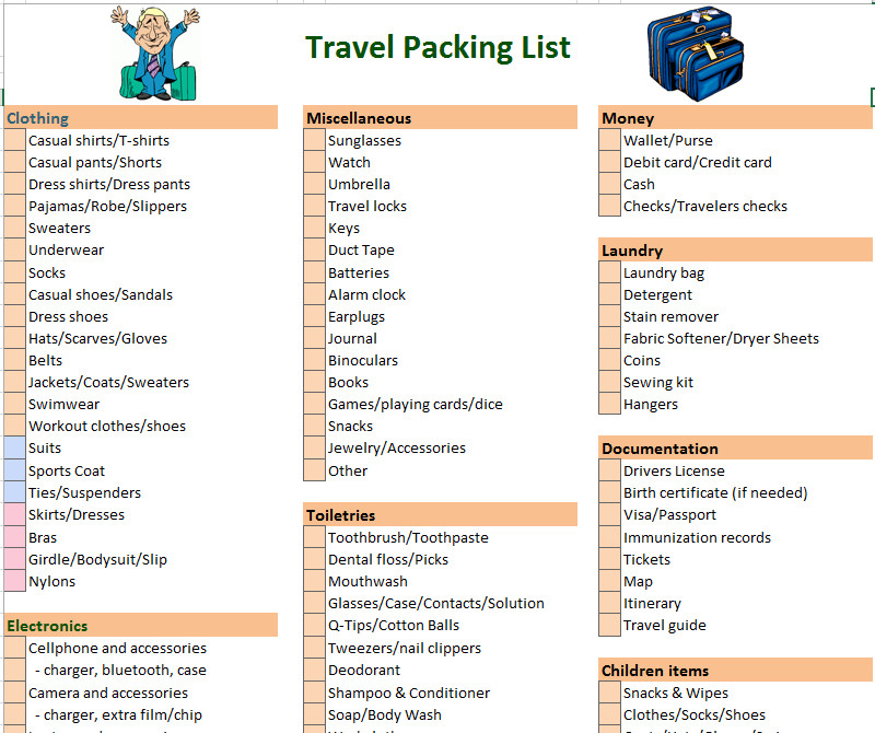 Vacation Packing List Template 17 Free Annual Report Templates Microsoft Fice Templates