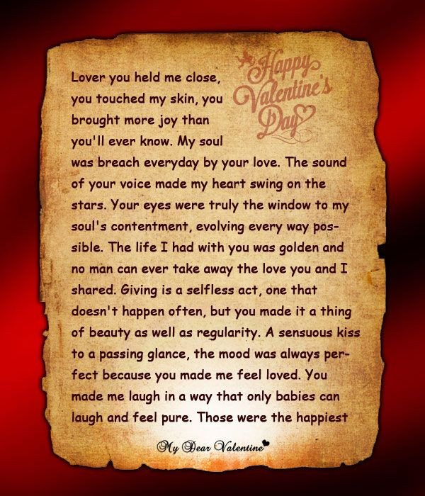 Valentine Letters for Him Wish Him A Happy Valentine S Day with This Letter