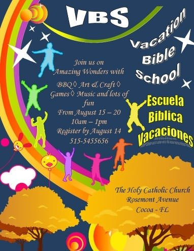 Vbs Flyer Template 12 Free Flyers to Promote Church events [download]