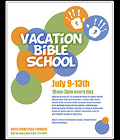 Vbs Flyer Template Church Art event Flyer Template