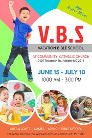 Vbs Flyer Template Church Flyer Templates