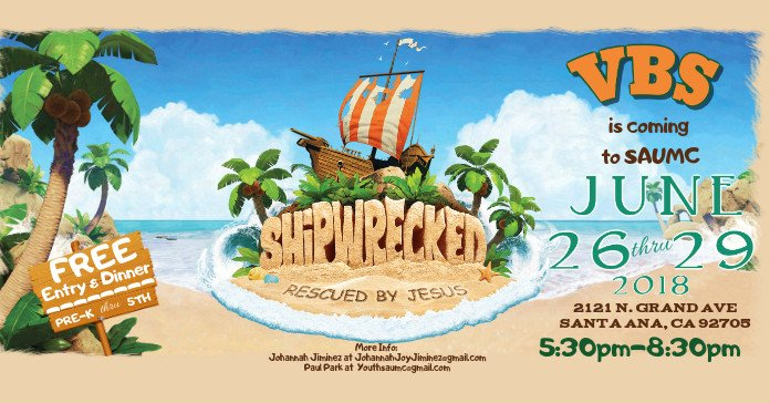 Vbs Flyer Template Shipwrecked Vbs Flyer Template
