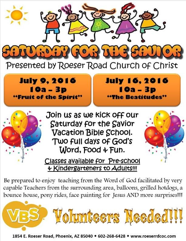 Vbs Flyer Template Vacation Bible School & Summer Enrichment Program