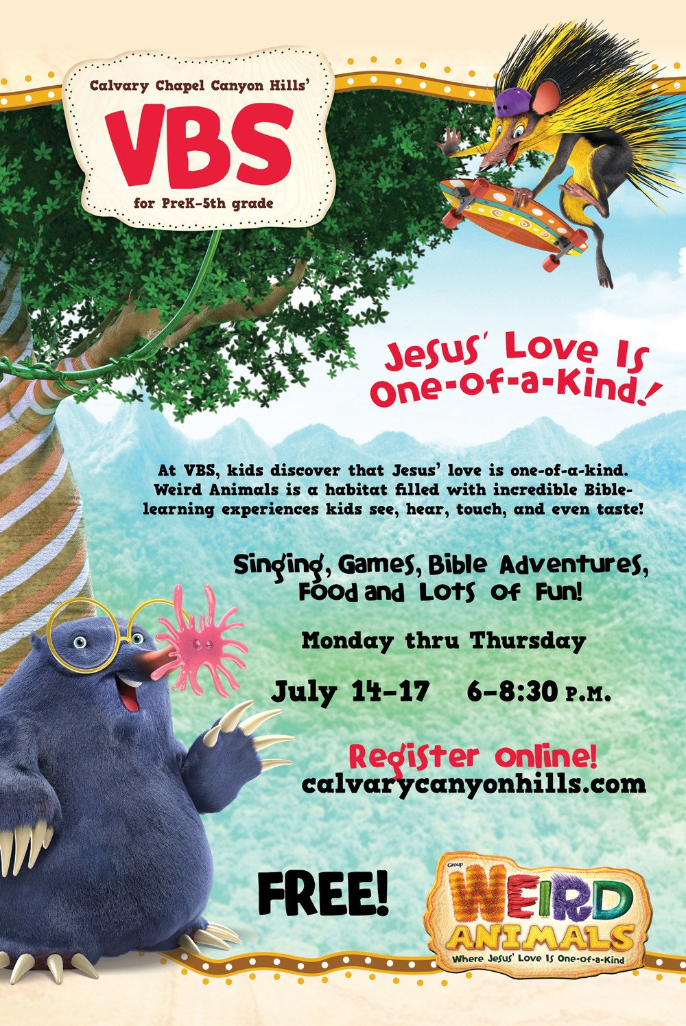 Vbs Flyer Template Vacation Bible School Summer 2014 at Calvary Chapel