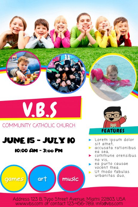 Vbs Flyer Template Vacation Bible School Template