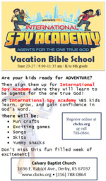 Vbs Flyer Template Vbs 2014 International Spy Academy